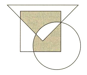 3図形が重なった部分の面積は ... : 算数 図形 クイズ : クイズ